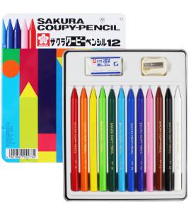 Lápis de Cor Integral Coupy Sakura 12 Cores