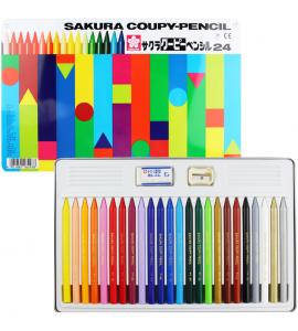 Lápis de Cor Integral Coupy Sakura 24 Cores