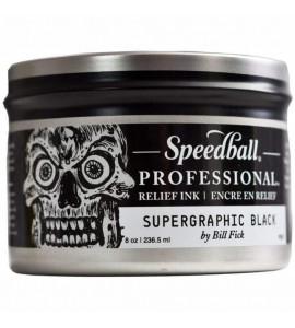 Tinta Óleo Para Xilogravura 236,5ml Speedball Supergraphic Profissional Black