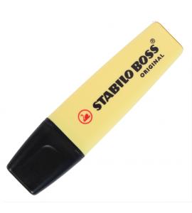 Marca Texto Boss Stabilo Amarelo Pastel 144