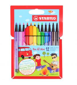 Caneta Stabilo Pen 68 Mini 12 Cores