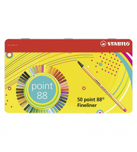 Estojo Caneta Stabilo Point 88 50 Cores 8850-6