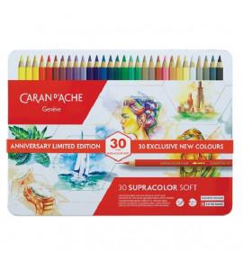 Estojo Lápis Aquarelável Caran D'Ache Supracolor 30 Cores EDIÇÃO LIMITADA