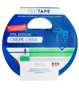 Fita Crepe Tectape PRO 240 Azul