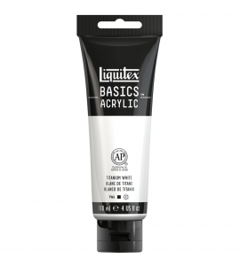 Tinta Acrílica Liquitex Basics 432 Titanium White 188ml