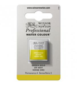 Tinta Aquarela Profissional Winsor & Newton Pastilha S2 294 Green Gold