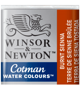Tinta Aquarela Pastilha Cotman Winsor & Newton Burnt Sienna 074