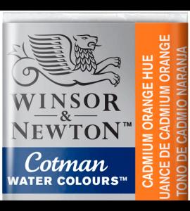Tinta Aquarela Pastilha Cotman Winsor & Newton Cadmium Orange Hue 090