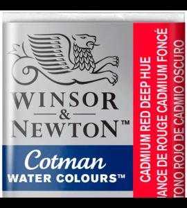 Tinta Aquarela Pastilha Cotman Winsor & Newton Cadmium Red Deep Hue 098