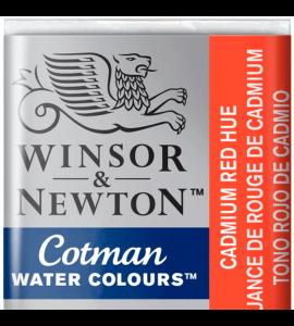 Tinta Aquarela Pastilha Cotman Winsor & Newton Cadmium Red Hue 095