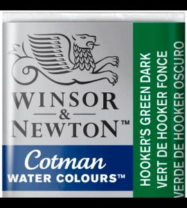 Tinta Aquarela Pastilha Cotman Winsor & Newton Hooker's Green Dark 312