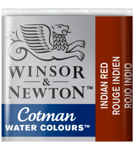 Tinta Aquarela Pastilha Cotman Winsor & Newton Indian Red 317