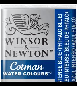 Tinta Aquarela Pastilha Cotman Winsor & Newton Intense Blue (Phthalo Blue) 327