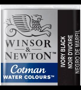 Tinta Aquarela Pastilha Cotman Winsor & Newton Ivory Black 331