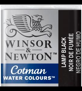 Tinta Aquarela Pastilha Cotman Winsor & Newton Black Lamp 337