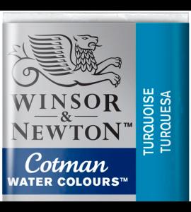 Tinta Aquarela Pastilha Cotman Winsor & Newton Turquoise 654