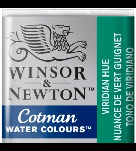 Tinta Aquarela Pastilha Cotman Winsor & Newton Viridian Hue 696