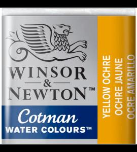Tinta Aquarela Pastilha Cotman Winsor & Newton Yellow Ochre 744