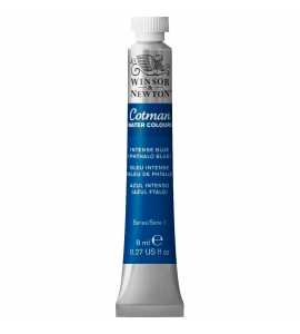 Tinta Aquarela Cotman Winsor & Newton 8ml Intense Blue (Phthalo Blue) 327