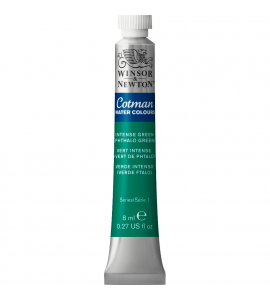 Tinta Aquarela Cotman Winsor & Newton 8ml Intense Green (Phthalo Green) 329