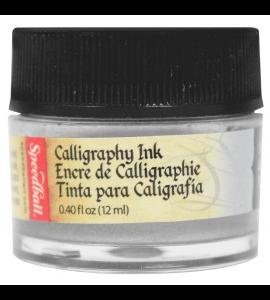 Tinta Para Caligrafia Speedball 12ml Prata Metálico 3107