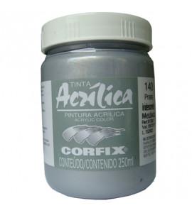 Tinta Acrílica Corfix 250ml 140 Prata Iridescente