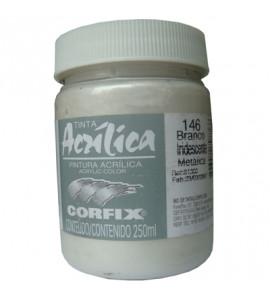 Tinta Acrílica Corfix 250ml 146 Branco Iridescente