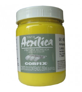Tinta Acrílica Corfix 250ml 48 Amarelo Limão G1