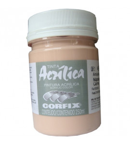 Tinta Acrílica Corfix 250ml 49 Amarelo Nápoles Carne G1