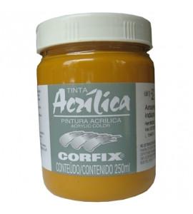 Tinta Acrílica Corfix 250ml 52 Amarelo Indiano G1