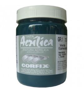 Tinta Acrílica Corfix 250ml 73 Verde Esmeralda G1