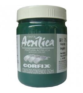 Tinta Acrílica Corfix 250ml 75 Verde Inglês G1