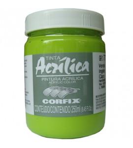 Tinta Acrílica Corfix 250ml 77 Verde Inglês Claro G1