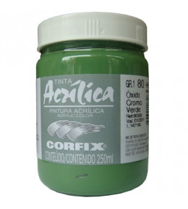 Tinta Acrílica Corfix 250ml 80 Óxido Cromo Verde G1