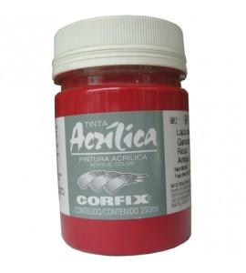 Tinta Acrílica Corfix 250ml 91 Laca de Garança Rosa Antigo G2