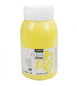Tinta Acrílica Para Tela Pébéo 1000ml 48 Amarelo Primário