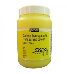 Tinta Acrílica Translúcida Pébéo 250ml 101 Yellow