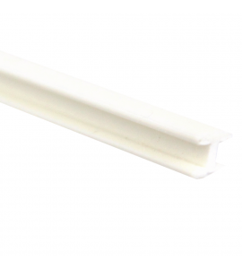 Vareta PVC Formato H Para Encaixe 02 x 1000 mm