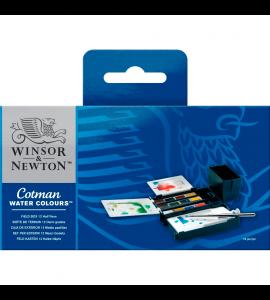 Tinta Aquarela Pastilha Winsor & Newton 12 Cores Field Box