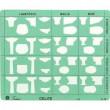 Gabarito Arquitetura Trident Sanitários A14 Escala de 1:20