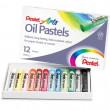 Pastel Oleoso Pentel 12 Cores