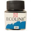 Tinta Ecoline Talens 30ml 578 Sky Blue Cyan