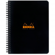 Caderno de Papel Quadriculado Note Book Rhodia Capa Preta A5+ Espiral