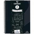 Caderno Universitário A4 80 Folhas Canson Preto Capa Dura