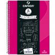 Caderno Universitário A4 80 Folhas Canson Rosa Capa Dura