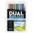 Caneta Dual Brush Pincel Tombow 10 Cores Paisagem