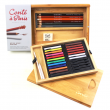 Estojo de Desenho Profissional Conté à Paris Bamboo Box