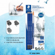Estojo Lápis Grafite Aquarelável + Pincel, Staedtler
