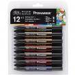 Marcador Promarker Mangá Set 1 12 Cores + Blender Winsor & Newton