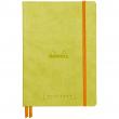 Caderno Sketchbook de Couro Goalbook Rhodia Anise A5